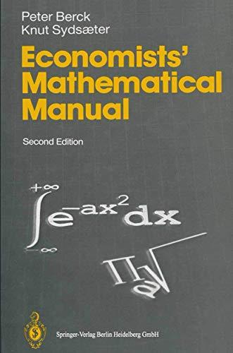 Economists' Mathematical Manualの詳細を見る