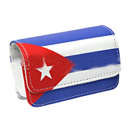Reiko Design Pouch voor Motorola V3 - Retail Verpakking - Cuba Vlag, Stand Case, Cuba Flag