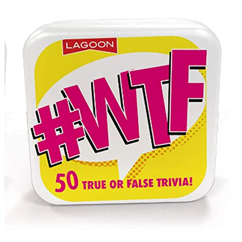 Lagoon Grupo Mini Trivia de Mesa - 50 Cartas Verdadero o Falsa Trivia #WTF