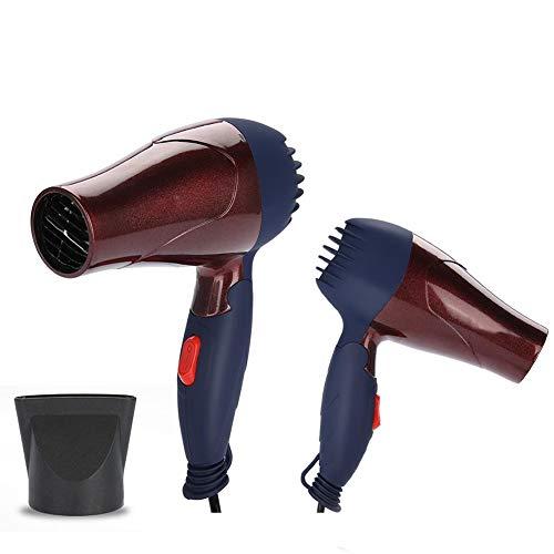 Mini-haardroger, 1500 watt, lichte 2-traps verstelbare föhn met inklapbare handgreep, ideaal voor de schoolzaal voor thuis en op reis. bruin