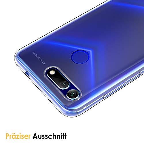 Beetop Huawei Honor View 20 Hülle Schutzhülle Ultradünn Handyhülle Transparent Weiche Silikon TPU Rückschale Case Cover für Huawei Honor View 20 - Durchsichtig - 4