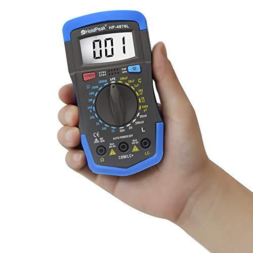 TuToy Holdpeak Hp-4070L Multímetro Digital Hfe Medición De La Inductancia De La Capacitancia De La Inductancia De Retroiluminación Lcr Medidor Herramienta De Reparación