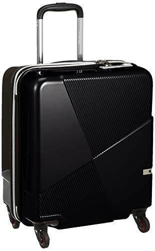 [ヒデオワカマツ] スーツケース ジッパー マックスキャビンEX 機内持込最大容量 拡張機能付き 機内持ち込み可 85-76580 保証付 42L 50 cm 3kg ブラック
