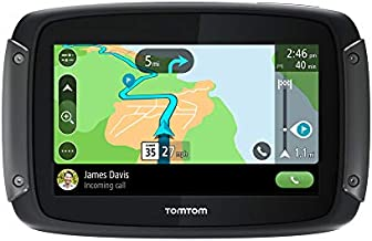 TomTom Rider 550 Motorcycle GPS Navigation Device, 4.3 Inch, withWorldMaps,Motorcycle Specific Windingand Hilly Roads, Updates via WiFi, TrafficandSpeed Cams,Compatiblewith Siri and Google Now