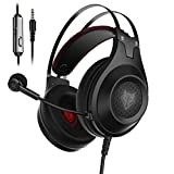 Gaming Headset for Xbox One, PS4, PC, Controller, NUBWO Wired Gaming Headphones with Microphone and...