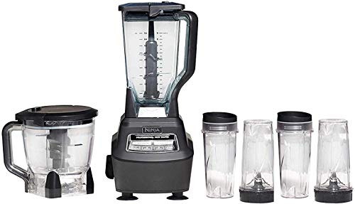 Mega Kitchen System (BL770) Blender/Food Processor with 1500W Auto-iQ Base, 72oz Pitcher, 64oz Proce