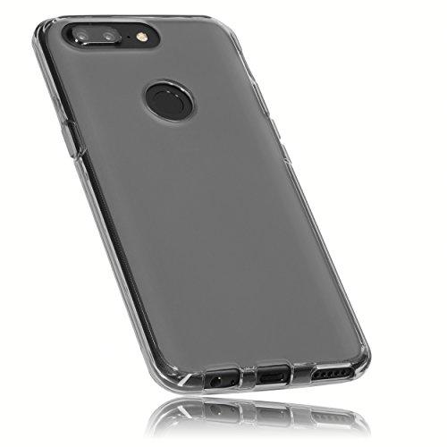 mumbi Hülle kompatibel mit OnePlus 5T Handy Hülle Handyhülle, transparent schwarz