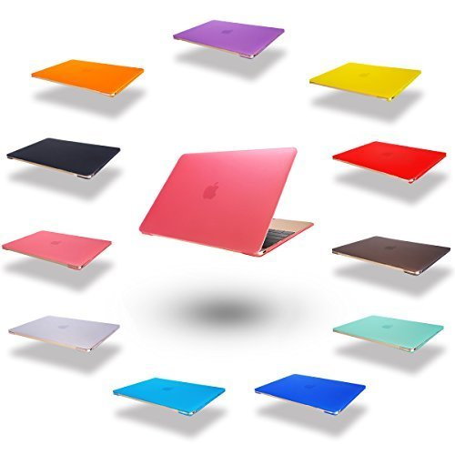 dizauL  elegante e leggera protezione ultra sottile Custodia cover coperchio protettivo duro caso notebook borsa guscio duro Custodia per 2015 Apple NEW MACBOOK 12 'Rosa