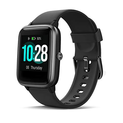 HOMVILLA Smartwatch,  Fitness Tracker,  Reloj Inteligente Impermeable IP68 Fitness con Monitor de Ritmo Cardíaco Podómetro Monitor de Sueño Cronómetro Temporizador para Hombres Mujeres iPhone Android