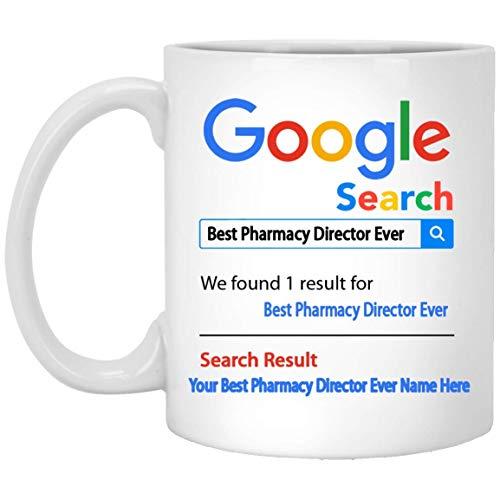 Taza de café personalizada con el mejor director de farmacia de todos los tiempos - Nombre personalizado Regalos de director de farmacia - Regalo para el director de farmacia - Cesta de agradecimiento