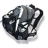 CADOMOTUS Waterflow Sportrucksack 30+15L - Wasserdichter Rucksack aus Segeltuch - Fahrrad Rucksack - Triathlon Sporttasche - MTB Rucksack - Skate Bag - Ultraleicht mit Helmfach und Schuhfach - Grau