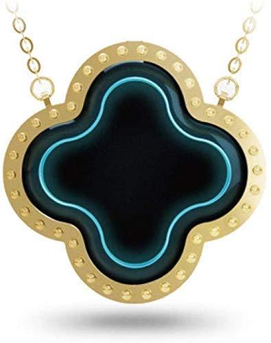 Wenore Draagbare mini-luchtreiniger halsketting negatieve ionen vier bladen hals draagbare elektronisch masker luchtreiniging