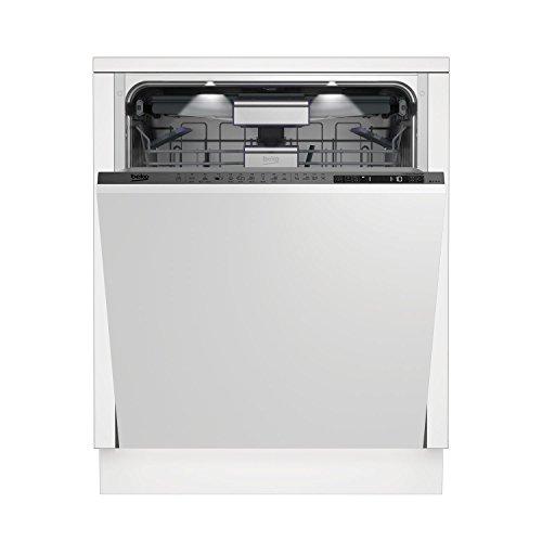 Beko DIN39430 - Lavavajillas completamente integrado de 14 plazas, A+++ (totalmente integrado, tamaño completo (60 cm), Gris, Táctil, LCD, Condensación)