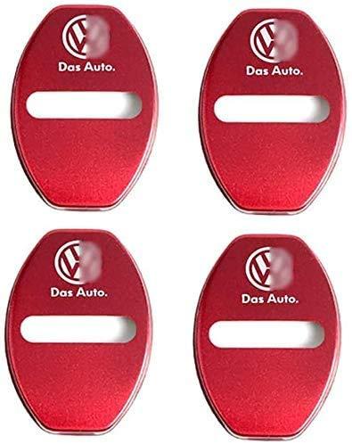 Lyclyb Auto Tür Schlösser Schutzhülle Für VW Golf Polo, Auto Türschloss Stürmer Schutz Korrosionsschutzabdeckung Edge Protector