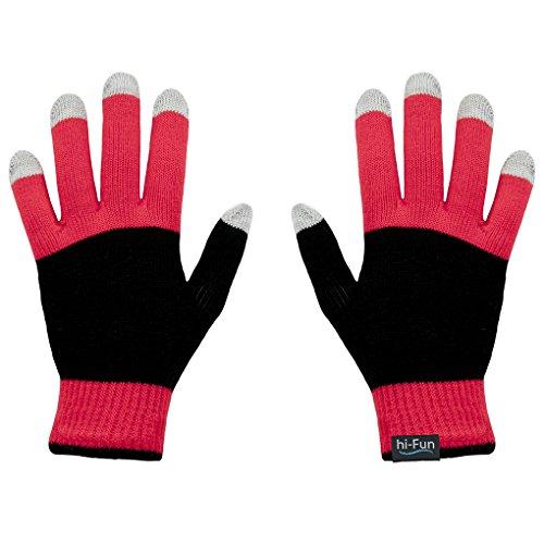 Hi-Fun Hi-Glove Donna Touch Screen Glove- Men's Red