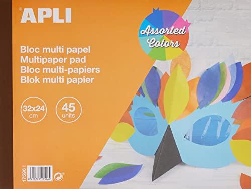 APLI 17596 - Bloc papeles surtidos 32 x 24 cm 45 hojas 🔥