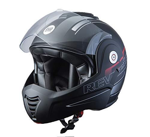 BHR Helmets 807 REVERSE Motorradhelm Unisex für Erwachsene, Schwarz Kaltes, S