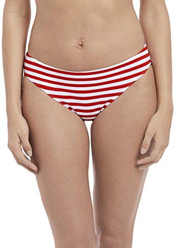 Freya Drift Away Bikini Bottom, XS, Red Stripe