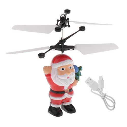 Colcolo Navidad Flying Santa Drone Toy Sensor Infrarrojo Powered Helicóptero