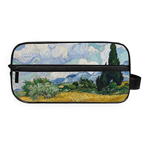 Trousse de toilette portable Deziro Van Gogh - Champ de blé - Étanche - Pour femme et fille