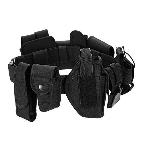 Fbest Modular Tactical Belt Duty Belt Police Security Law Enforcement Military Duty Utility Belt with Pouches Holster Gear