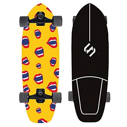 VOMI Skateboards para principiantes, Surf Skate Carver Skateboard Talla Bombeo CX4 Camión de 8 pulgadas, profesional de tierra Surfboard completo para principiantes, niñas, niños y adolescentes