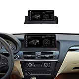 TypeBuilt Autoradio Android Stereo Touchscreen GPS 10.25 Pollici HD Touch Multimedia per BMW X3 F25 2010-2017 Supporto 12V Dab Chiamate in Vivavoce MP5 SWC,Cic,MSM8953Plus