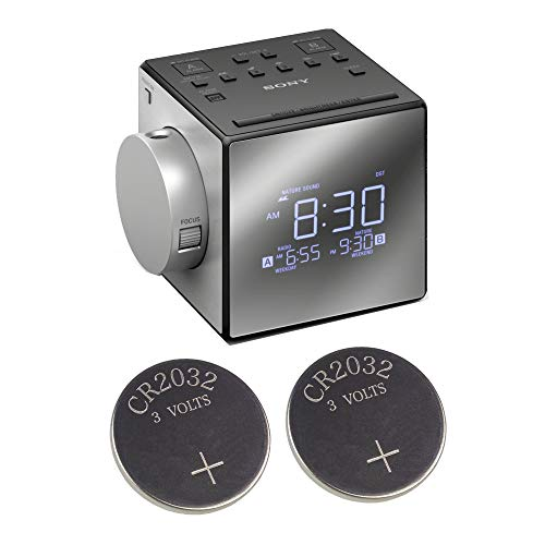 Sony ICFC1PJ Alarm Clock Radio w/ 2 Back-up 2032 Lithium Batteries