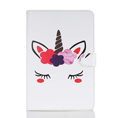 Case for Tablet iPad Mini, Flip Cover Leather Wallet with Card Holder for iPad Mini 1 2 3 4 5 - Unicorn