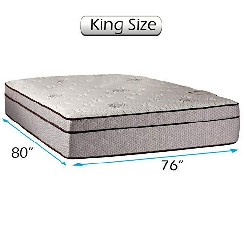 Amazing Deal Fifth Ave Plush Extra Soft Foam Encased Eurotop (Pillow Top) Mattress Only King Size-76...