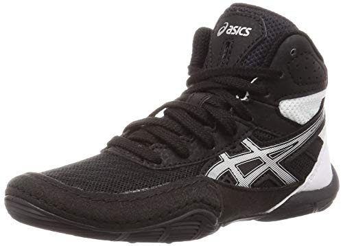ASICS Kid's Matflex 6 GS Wrestling Shoes, 3.5M, Black/Silver