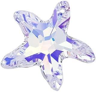 Swarovski Crystal, 6721 Starfish Pendant, 28mm, 1 Piece, Crystal AB