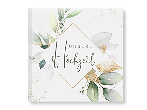 Gästebuch Hochzeit Fotobuch Hochzeitsbuch Gäste Boho für Hochzeiten Geschenk blanko Naturpapier