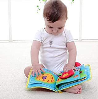 12 pages Soft Cloth Baby Boys Girls Books Rustle Sound Infant Educational