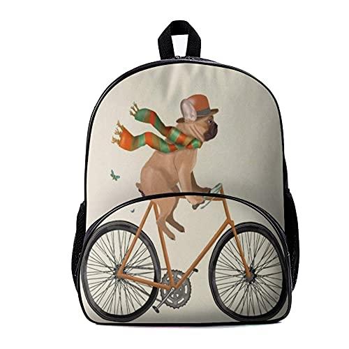 Mochila escolar Bulldog francés regalo perro amante gif 18x30x40cm mochila escolar