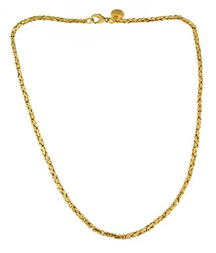 Königs-Kette rund Gold Doublé 2,5 mm 42 cm Halskette Gold-Kette Herren-Kette Damen Geschenk Schmuck ab Fabrik Italien tendenze BZGYRds2,5-42v