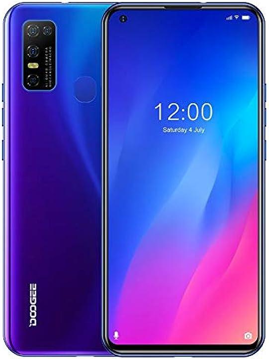 Smartphone doogee n30 (4gb ram+128gb rom), telefono cellulare android 10 doppia sim+scheda sd B08L1KS3KK
