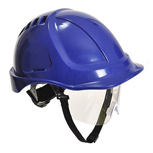 Portwest - La resistencia pw54rbr además casco con visera, azul real ⭐