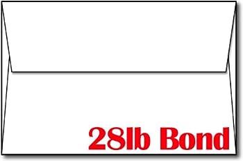 28lb/70lb Bright White A9 Envelopes  5 3/4  x 8 3/4   - 100 Envelopes Pack