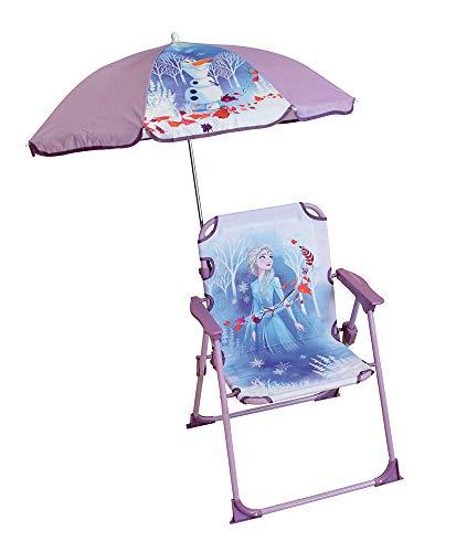 Fun HOUSE Disney ijskoningin 713209 kinderstoel met parasol voor meisjes, paars/wit
