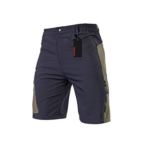 TOMSHOO Pantalones Cortos de MTB para Hombres, Pantalones Cortos de Ciclismo para Bicicletas, Pantalones Transpirables para Bicicletas de MTB Pantalones Cortos de Ciclismo para Exteriores