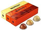 Nespresso VertuoLine (European Version) Barista Creations Flavored Assortment of Coffee (7.7 ounce): Vanilla Custard Pie, Caramel Cookie, Hazelino Muffin, 30 Capsules