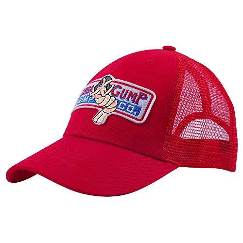 qingning Gump Kappe Baseballcap Rot Drucken Hut Snapback Trucker Cap Cosplay Kostüme Zubehör (One Size(58-60cm), Gump Cap rote Kappe für Baseball)