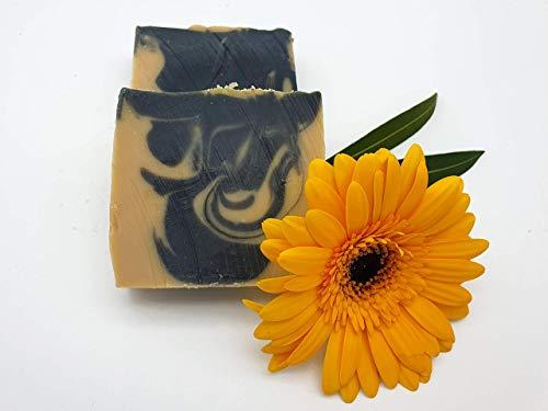 Duschbutter Mayan Gold, besonders reichhaltige Seife, Duschseife, vegan, hohe Überfettung, ohne Palmöl, handgemachte Naturseife von kleine Auszeit Manufaktur