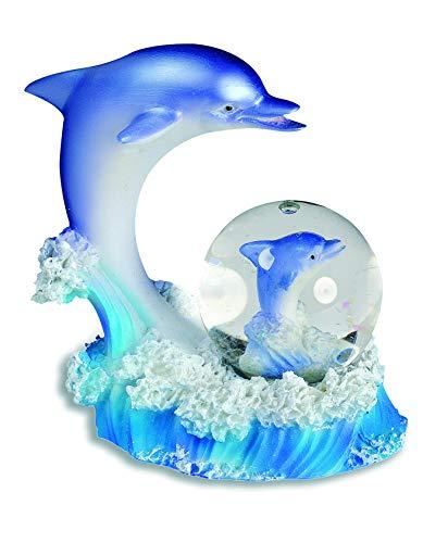 impexit Boule Neige Dauphin avec Figurine Dauphin en resine 9,5/8,5/7,5 cm (b)