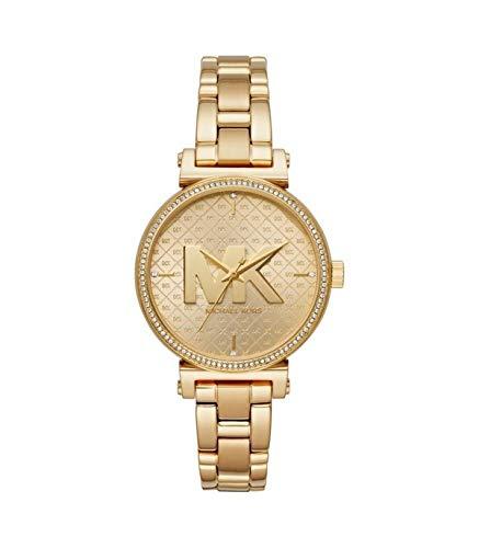 Michael Kors Reloj Analógico para Mujer de Cuarzo con Correa en Acero Inoxidable MK4334, Dorado