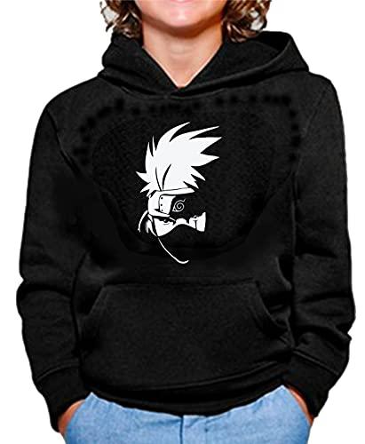 The Fan Tee Sudadera de NIÑOS Naruto Sasuke Kakashi Itachi 035 12-13 Años