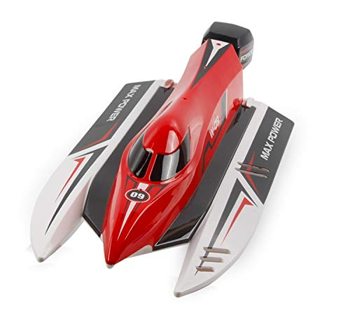 Ladan RC Boot, Fernbedienung Boot, 2.4Ghz 45 Km/H Elektro-Rennboot High Speed ​​Boote, Top Race Speedboat for Anfänger, Wasserspielzeug for Kinder, Erwachsene