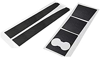 Ocamo Auto Accesorios Auto Pegatinas Tipps para Abrir la Puerta White Luminous Sticker Kit Modified Trim for Tesla Model 3