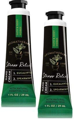 Price comparison product image Bath and Body Works 2 Pack Aromatherapy Stress Relief Eucalyptus Spearmint Hand Cream. 1 oz